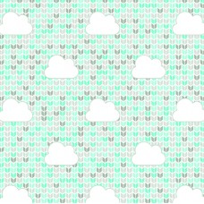 FELT SANTA FE COLLECTION DEBORA RADTKE-FELTRICO BLUE CLOUD ACQUA